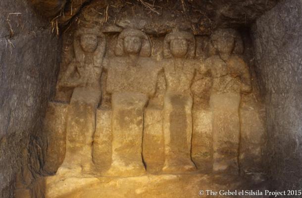The shrine depicting Neferkhewe and his family