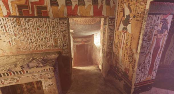 Nefertari's tomb is one of the largest in the Valley of the Queens. (Image: CuriosityStream)