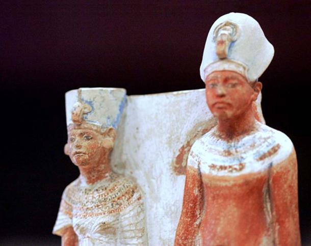 Nefertiti and Akhenaten 1345 BC – a less highly crafted likeness, perhaps.