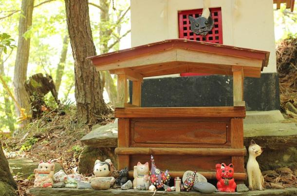 Neko-jinja, the cat shrine on Tashirojima Island, Japan.