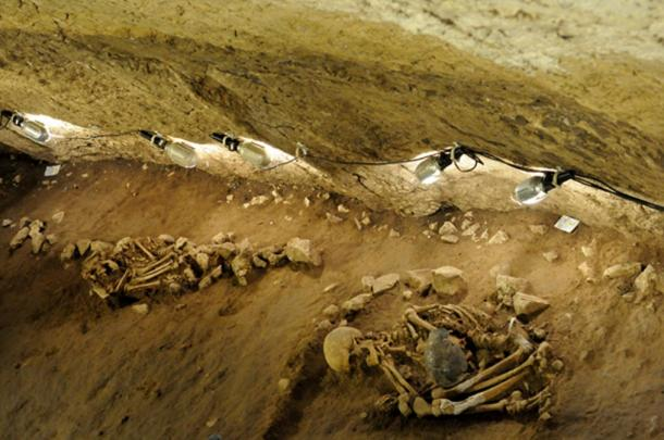 A couple of Neolithic burials found in 2013 at Can Sadurní cave in Begues, Barcelona.