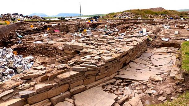2014 image of work at the Neolithic settlement at Brodgar, Scotland.