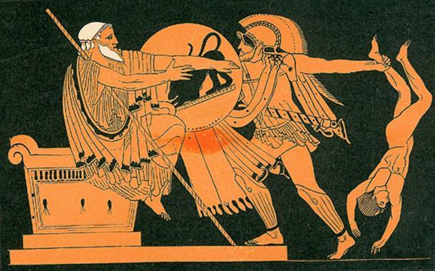 Neoptolemus killing Priam.