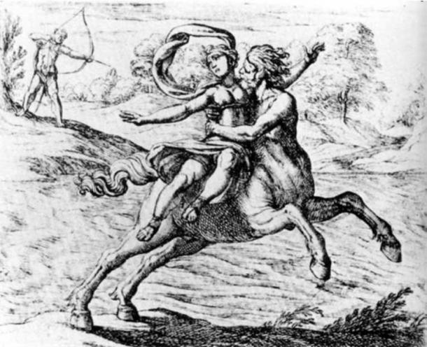 Nessus and Deianira.