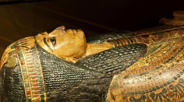 The 3,000 year-old coffin of Nesyamun, on display at Leeds City Museum. (© Leeds Museums and Galleries)