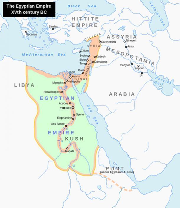 Location of New Kingdom