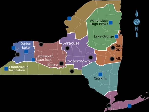 New York Regions (Public Domain)