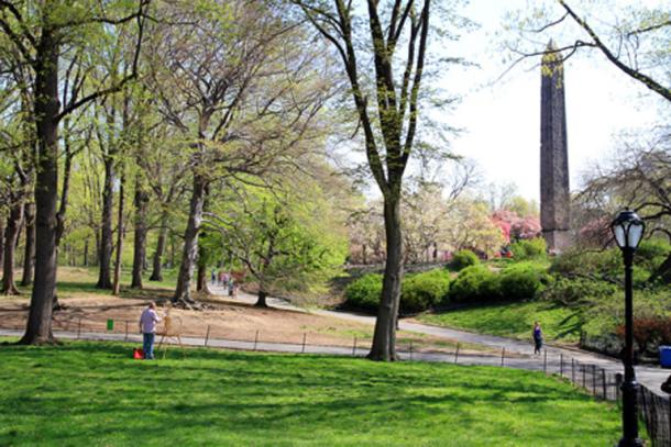 New York's Cleopatra's Needle in Central Park.