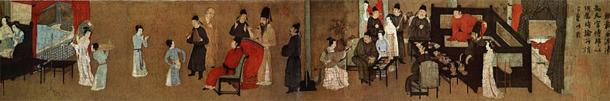 'Night Revels of Han Xizai' -a painting depicting ladies dancing and entertaining guests. (Public Domain)