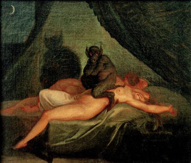 Nightmare (1800) by Nicolai Abraham Abildgaard.