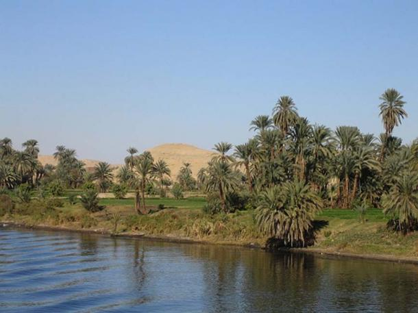 Nile River from a boat between Luxor and Aswan.