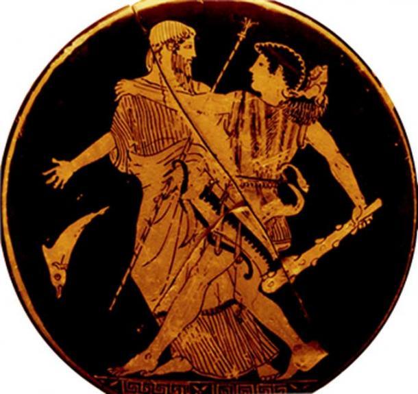 Nimrod/Herakles knocks Noah/Nereus aside, usurping his authority. (Author provided)