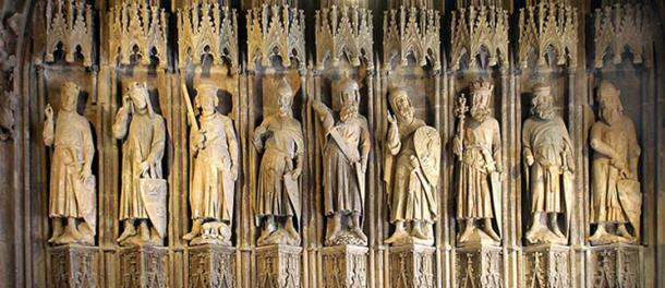 The Nine Worthies: 14th century sculpture in Cologne's historic town hall.