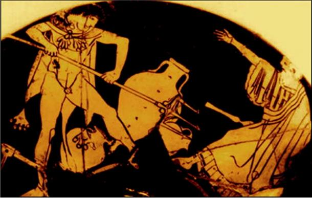 """Noah/Nereus objects to the ransacking of his """"house"""" by Nimrod/Herakles. (Author provided)"""