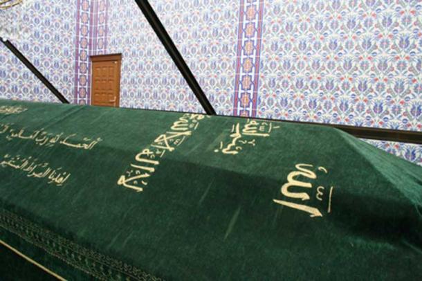 Noah's Coffin inside Noah Mausoleum in the city of Cizre, Turkey.