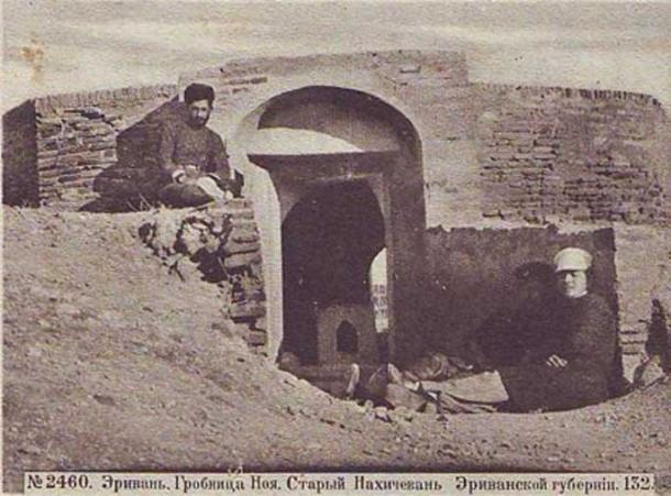 Noah's Tomb or Mausoleum in Nakhchivan, Postcard, circa 1917.
