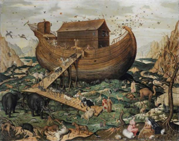 Noah's ark on the Mount Ararat, Simon de Myle, 1570.