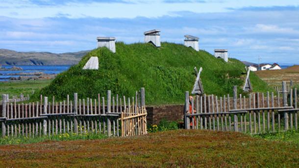 Norse long house recreation, L'Anse aux Meadows, Newfoundland and Labrador, Canada. (D. Gordon E. Robertson/CC BY SA 3.0)