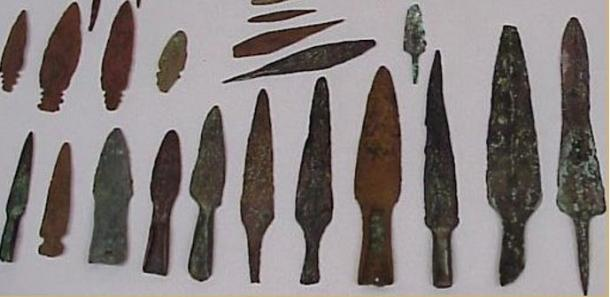 North American Old Copper tanged points, courtesy of copperculture.homestead.com