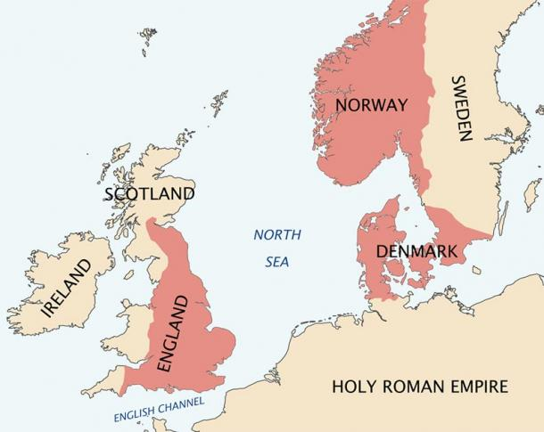 The North Sea Empire of Cnut the Great, c. 1030. (CC BY-SA 3.0)
