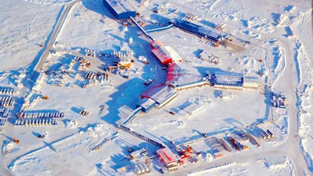 Northern Shamrock military base located at Kotelny Island. (The Siberian Times)