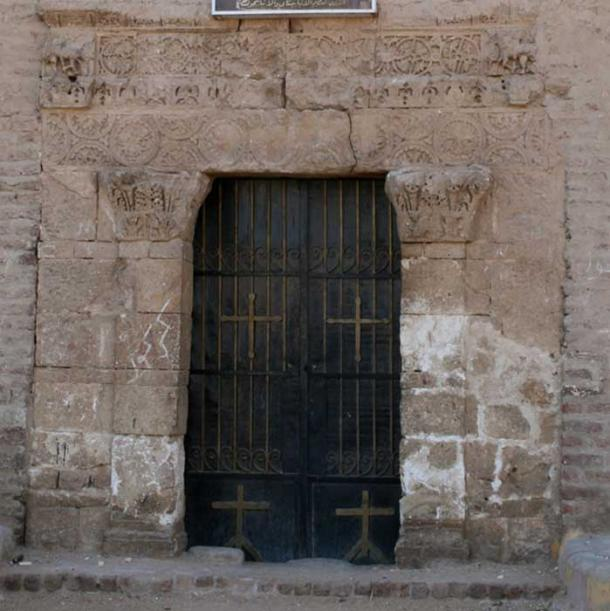 Northern doorway of the late antique Red Monastery Church (Sohag). Credit: Schroeder.