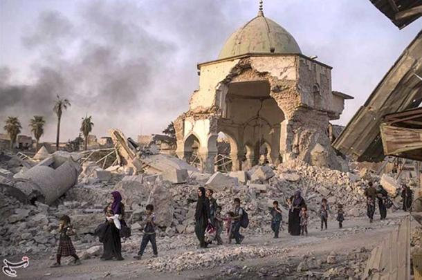 Nouri Mosque in Mosul after retaking from Isis.