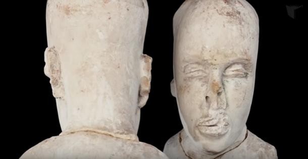 Nubian features on the Starving of Saqqara sculpture. (Concordia University/YouTube Screenshot)