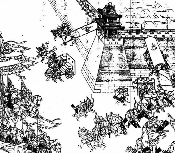 Nurhaci watching his army storm the walls of Ningyuan. (Walter Grassroot / Public Domain)