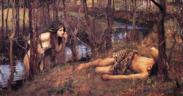 Nymphs or Naiads would lure men to their watery graves.