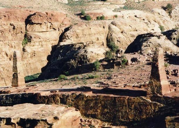 Obelisk Terrace, once covered with polished blue slate.
