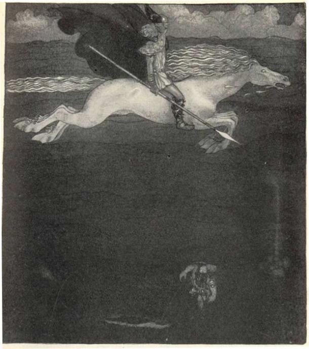 Odin and Sleipnir.