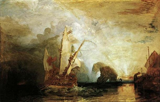 Odysseus Deriding Polyphemus by Joseph Mallord William Turner (1829) Web Gallery of Art (Public Domain)