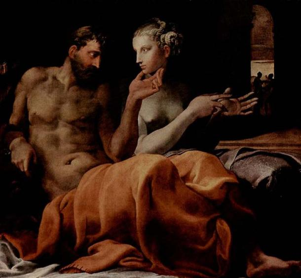 'Odysseus and Penelope' (1563) by Francesco Primaticcio.