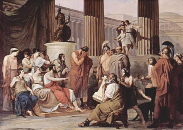 Odysseus at the court of Alcinous by Francesco Hayez. (1814) Galleria Nazionale di Capodimonte (Public Domain)