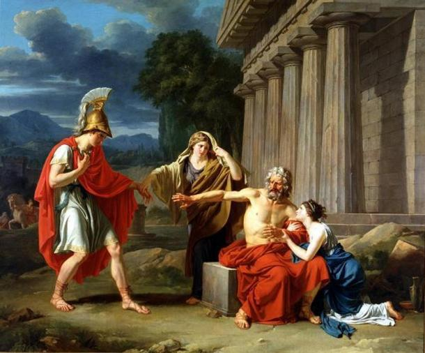Oedipus at Colonus, by Jean-Antoine-Théodore Giroust