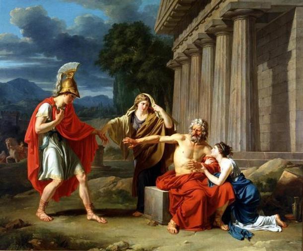 Oedipus at Colonus, by Jean-Antoine-Théodore Giroust