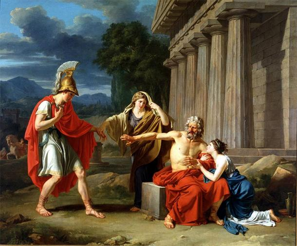 Oedipus at Colonus after Jocasta's death, one version of the truth. (Alexmarie28 / Public Domain)