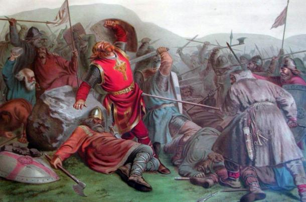 Olaf Haraldsson was canonised shortly after his death in the Battle of Stiklestad in 1030AD (public domain)