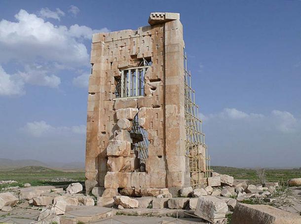 "Old Achaemenian temple at Pasargadae, said to be the ""Prison of Salomon"" (Zendan-é Salman). (dynamosquito/CC BY SA 2.0)"