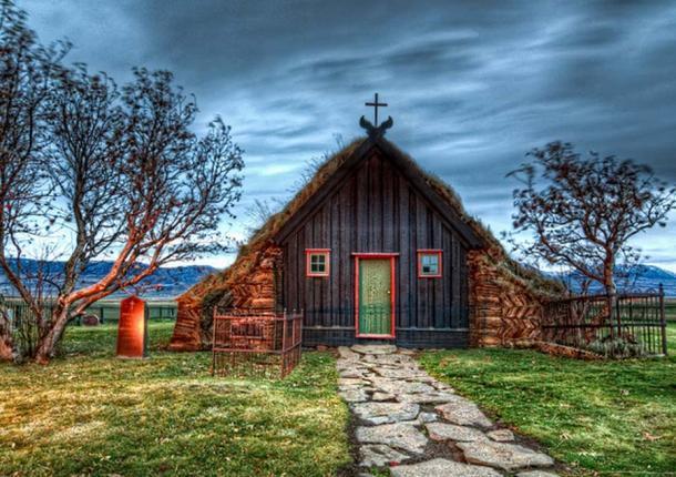 Old Icelandic church.