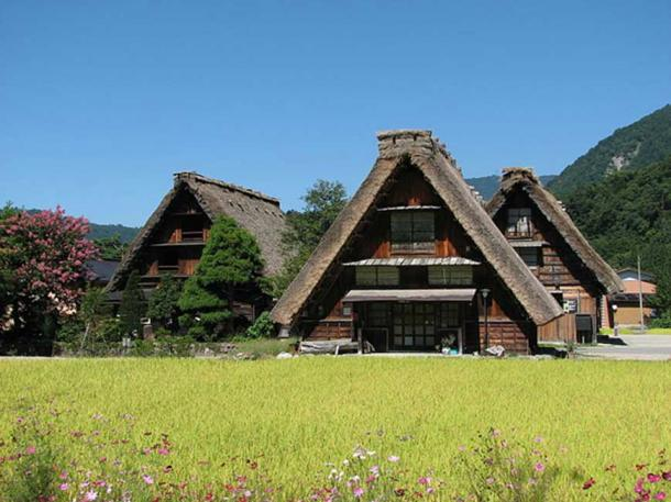 Old houses in Shirakawa-go, Japan.