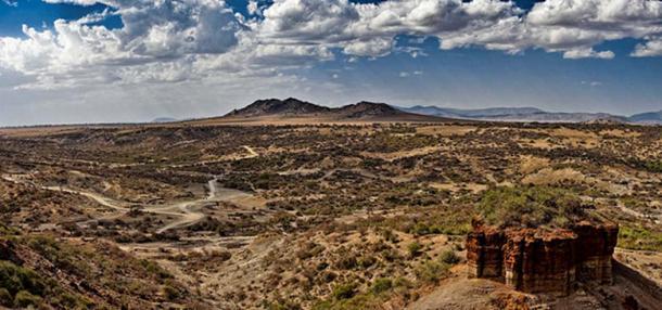 Olduvai Gorge or Oldupai Gorge.
