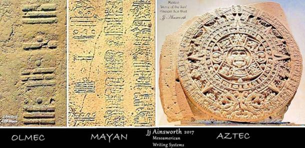Olmec, Maya, and Aztec writing and calendar systems.