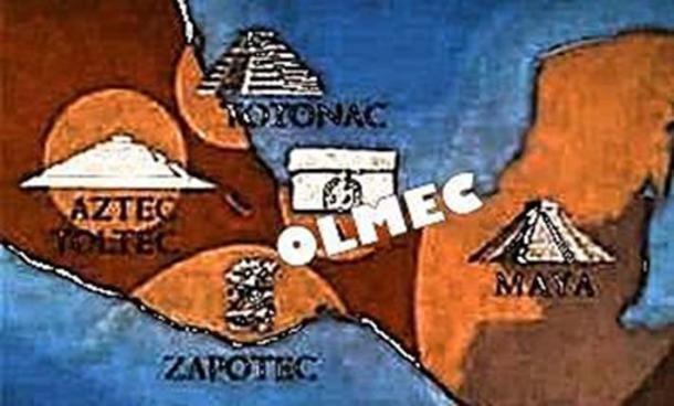 Olmec area of inhabitation.