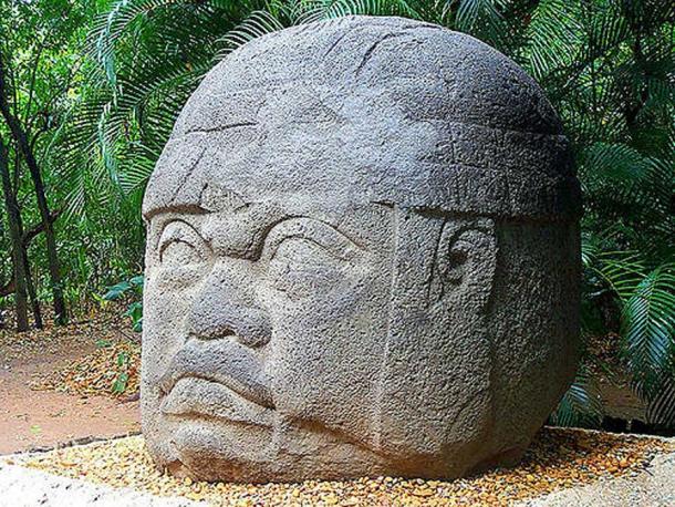 Olmec head. Parque-Museo La Venta, Villahermosa, Tabasco