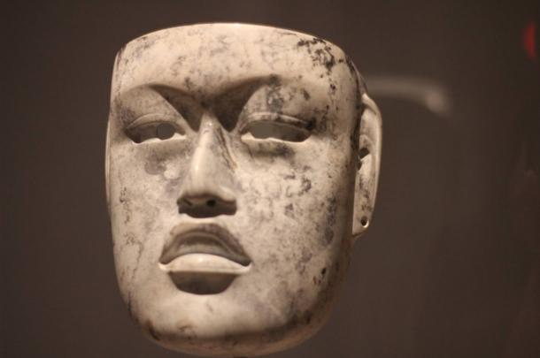 An Olmec mask from the same site where the corn cob-like object was found. This mask dates between 900 and 500 BC.