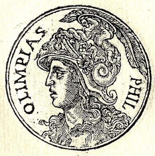 """Olympias from """"Promptuarii Iconum Insigniorum""""."""