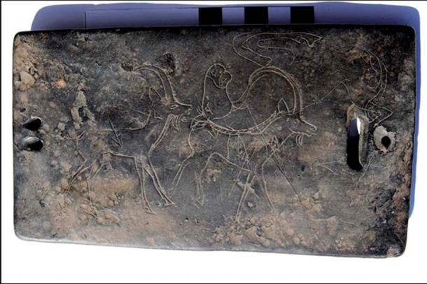 On one of the coal buckles Scythian-style engravings can be seen. Image: Marina Kilunovskaya