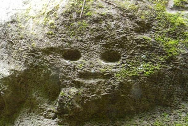 One carving appears to depict a type of creature.